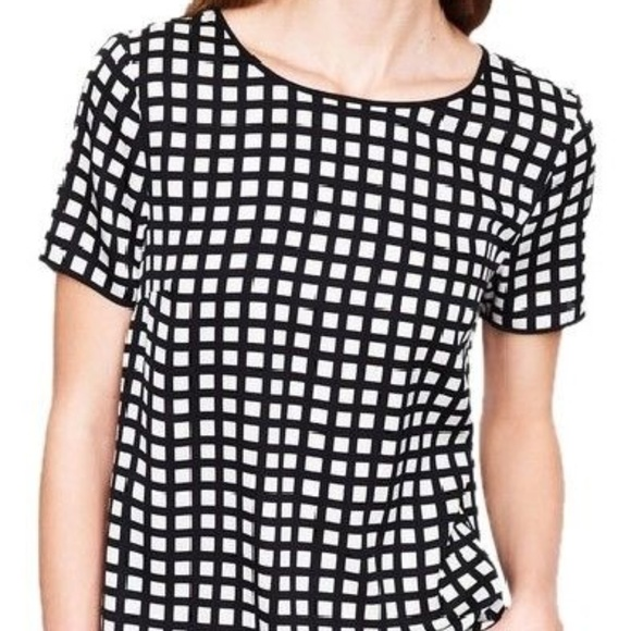 39daad86c761c J. Crew Tops - NWOT J. Crew Windowpane Short Sleeve Blouse Sz 6